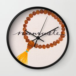 Namaste Prayer Beads Wall Clock