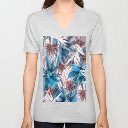tropic pattern Unisex V-Neck