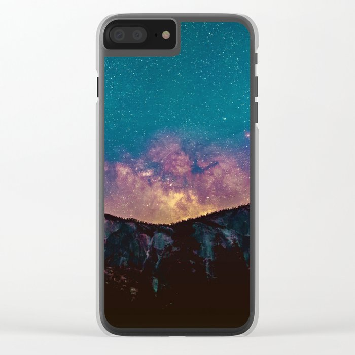 The Majestic Milky Way Clear iPhone Case