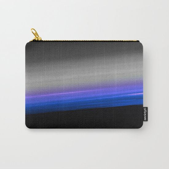 Blue Purple Grey Black Ombre Carry-All Pouch