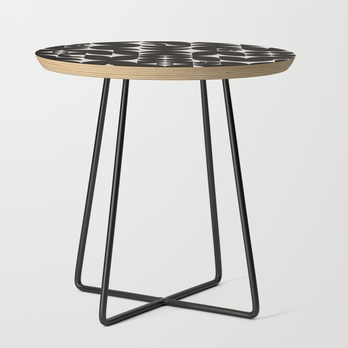 Black_&_White_Mid_Century_Modern_Pattern_Side_Table_by_Alisa_Galitsyna__Black__Round