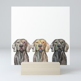 Triple Hunting Dogs Mini Art Print