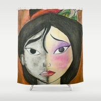 mulan Shower Curtains featuring Mulan by Jgarciat
