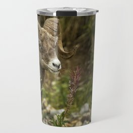 Ram Eating Fireweed Travel Mug