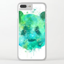 Watercolor Panda Painting Clear iPhone Case