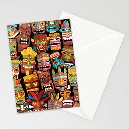 Tiki Pattern Stationery Cards