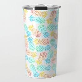 Colorful pineapple pattern Travel Mug