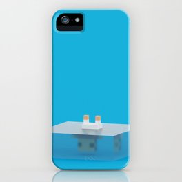 drowned (voxel) iPhone Case