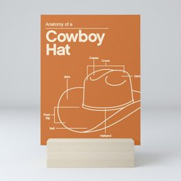 Anatomy of a Cowboy Hat Mini Art Print