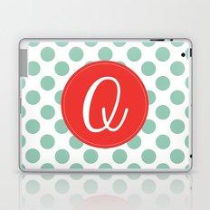Monogram Initial Q Polka Dot Laptop & iPad Skin