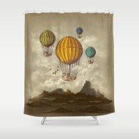 voyage Shower Curtains featuring The Voyage by Viviana Gonzalez