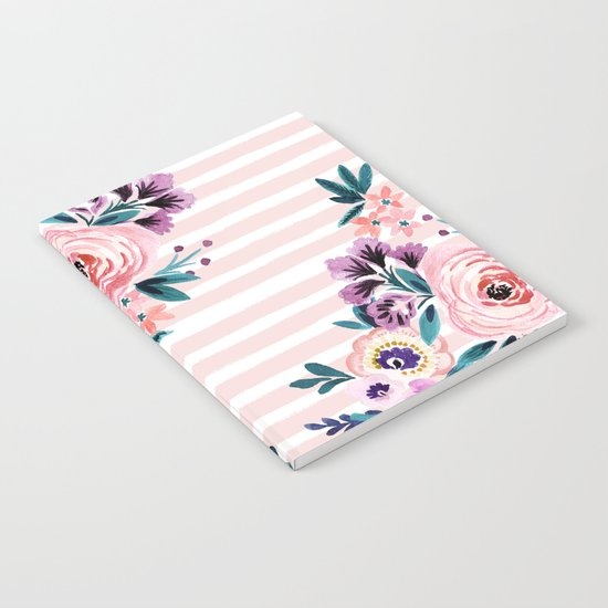 Victoria Blushing Stripe Notebook
