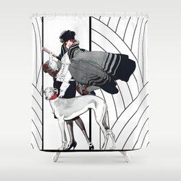 Art Deco Haute Couture Fashion Shower Curtain