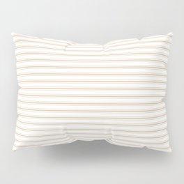 Almond Baby Camel Mattress Ticking Narrow Striped Pattern - Fall Fashion 2018 Pillow Sham