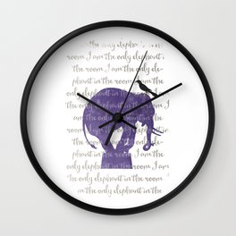 the only elephant Wall Clock