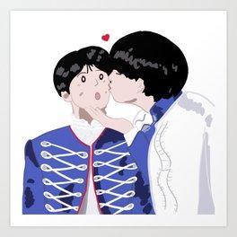 BTS Taekook kiss Art Print