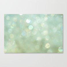 Bokeh Series - Sea Foam Canvas Print