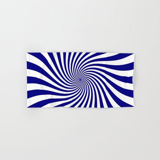 Swirl (Navy Blue/White) Hand & Bath Towel