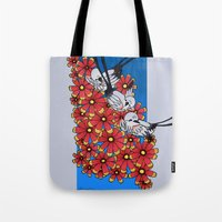 oklahoma Tote Bags featuring OKLAHOMA by Erin L Turberville
