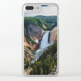 Waterfall, Grand Canyon of the Yellowstone Clear iPhone Case