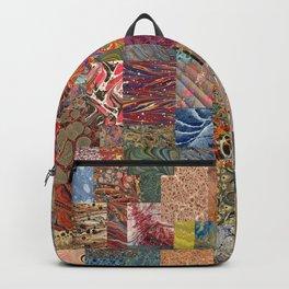 Turkish Marbled Paper Art (Ebru) Backpack
