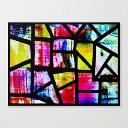 Colorful Mosaic Window Canvas Print