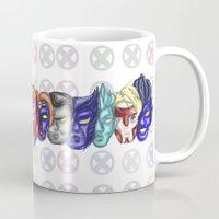 xmen Mugs featuring xmen by thev clothing