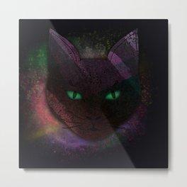 Watching Cat Metal Print