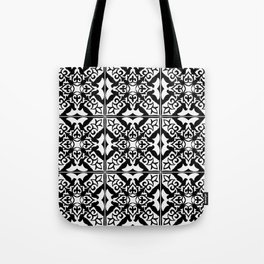 Moroccan Tile Pattern in Black and White Tote Bag