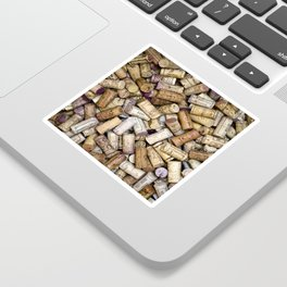 Fine Wine Corks Square Sticker