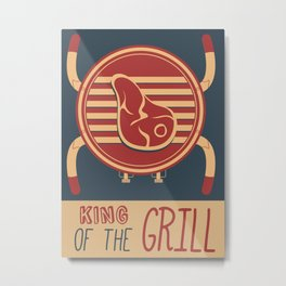 King of the Grill poster Metal Print
