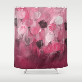 Rose Garden in Shades of Peachy Pink Shower Curtain