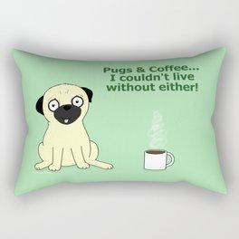 Pugs and Coffee Rectangular Pillow