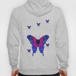 Butterfly Phone Pouch Design Purple Hoody