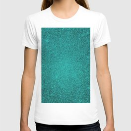 Apatite Teal Sparkling Jewels Pattern T-shirt