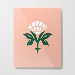 Ajrak Woodblock Floral Print Metal Print