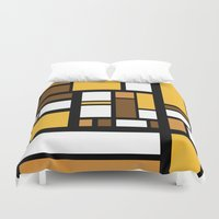 70s Duvet Covers featuring 70s Deco by Lily Mitchell