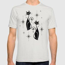Mid Century Meow Retro Atomic Cats ©studioxtine T-shirt