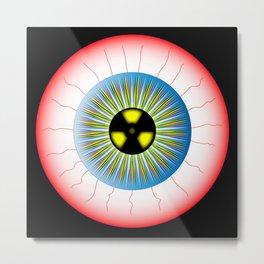 Radioactive Eye Metal Print