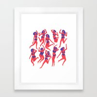 Underwear Dancing Framed Art Print