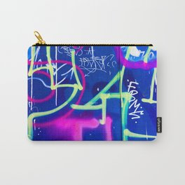Blue Mood with Pink Language Carry-All Pouch