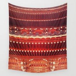 Three-storied pagoda Wall Tapestry