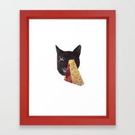 Floral Kitty Vision Framed Art Print