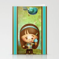 poop Stationery Cards featuring Bird Poop by Sarita Kolhatkar