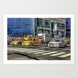 Street Art New York Art Print