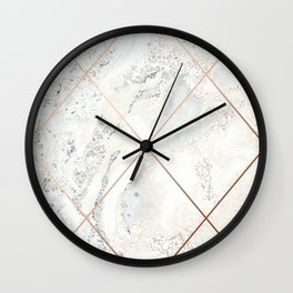 Copper & Marble 01 Wall Clock