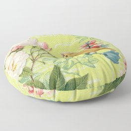 Yellow Bird Floor Pillow