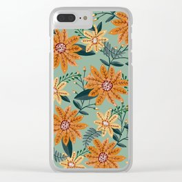 flowers / 51 Clear iPhone Case