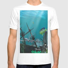 Shipwreck  MEDIUM White Mens Fitted Tee