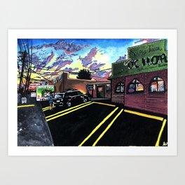 neon suburbia Art Print